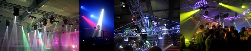 Montage d'infrastructure sonorisation et éclairage